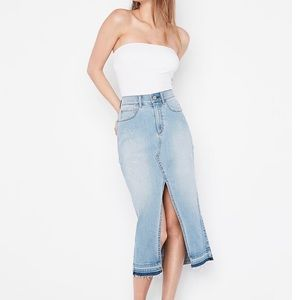 Express high waist denim skirt